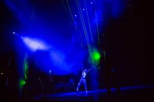 Laura Pausini Arpa laser