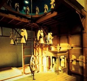 La mandorla illuminata e semovibile del Brunelleschi