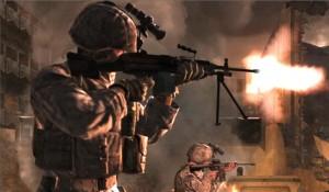 Scena dal contestato Call of Duty