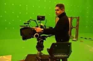 Gianluca Dentici sul set