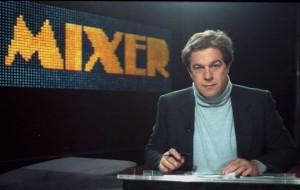 Giovanni Minoli nella redazione di Mixer