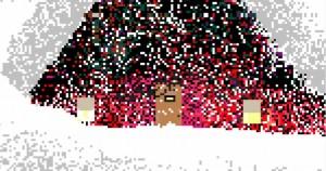 Dettaglio dei pixel di un dipinto