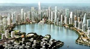 Master Plan del lago Meixi
