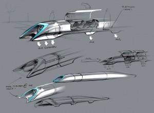 Dettagli della navetta Hyperloop