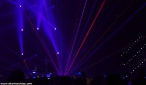 Laser bicolore rosso e blu