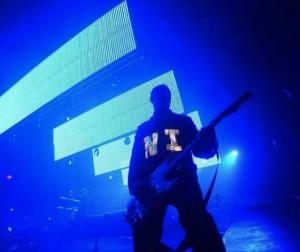 Schermi in verticale sul palco