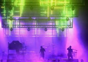 Schermi a bassa risoluzione sul palco