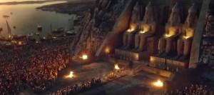 La ricostruzione CG del tempio di Abu Simbel