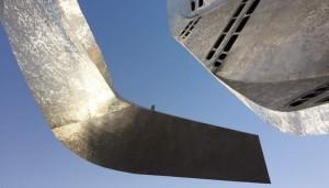 Ala di una delle quattro sculture