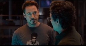Tony Stark/Robert Downey Jr con Bruce Banner/Mark Ruffalo