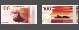 Grafica del biglietto da 100 corone norvegesi