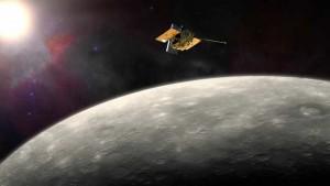 La sonda Messenger illuminata dal Sole