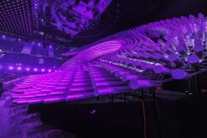 L'occhio formato con tubi LED
