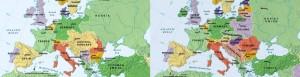 Mappa Europa prima e dopo 15-18