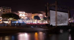 Cinema sulla spiaggia Cannes