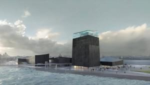Rendering Museo vista mare
