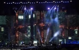 Proiezioni e luci Tiziano Lo Stadio Tour