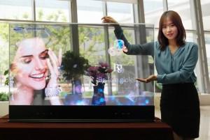 Samsung schermo OLED trasparente