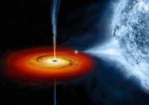 Immagine artistica di un buco nero