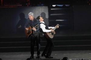 Baglioni e Morandi sul palco a Torino