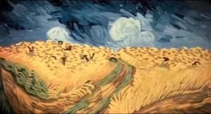 Campo di grano con volo di corvi di Van Gogh