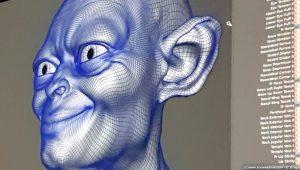 Modellazione viso Gollum