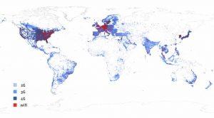 Mappa diffusione reti Internet
