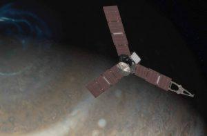 Rappresentazione grafica sonda e Giove