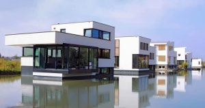 BLUE21 case galleggianti a Delft