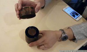 Kyo-zutsu altoparlante compatto in scatola da tè