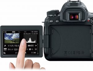 Touch-screen LED orientabile Canon 6D Mk II