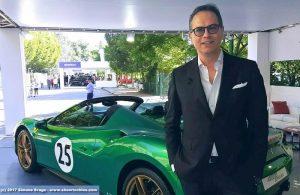 Flavio Manzoni con la Ferrari 488 Spider
