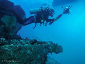 Registrazione subacquea con camera a 360°