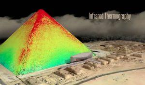Immagine infrarossi piramide Cheope