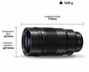 Lumix Leica 200mm f/2.8 misure