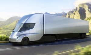 Semi Truck Tesla