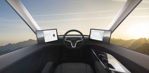Cabina Tesla Semi Truck