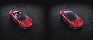Tesla Roadster tetto vetro a scomparsa