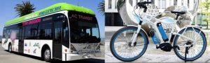 Van Hool Bus e bicicletta Linde