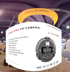 Kodak VR360 Pro Vr Camera stand CES