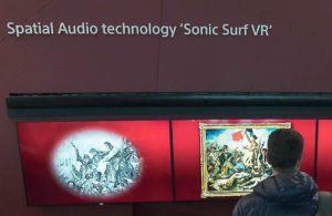 Sonic surf ISE 2018 animazione sonora quadro Delacroix