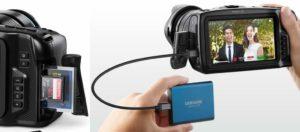 Supporti archiviazione Blackmagic Pocket Cam 4k
