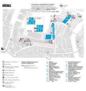 Pianta Arsenale Venezia 2018