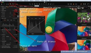 Capture One controlli modifiche e Reset