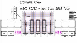 Lighting plot Giovanni Pinna per Vasco 2018