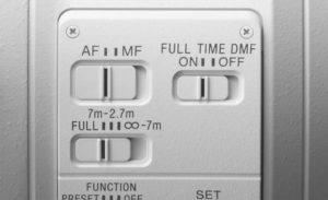 Dettaglio ghiere SONY FE 400 mm F2.8