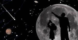 Cielo con luna elaborazione grafica NASA