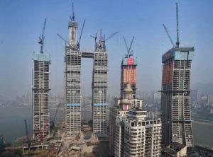 Cantiere Raffles City Chongqing