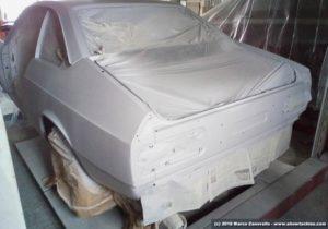 Lancia Beta Coupé con primer pre verniciatura
