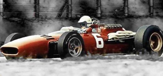 Scarfiotti alla guida della Ferrari vincitrice a Monza